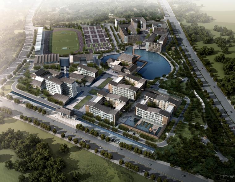 [重庆]中式风格中学新校区建筑设计方案文本