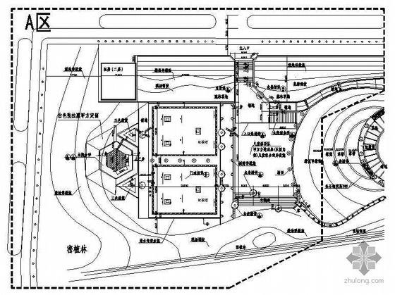 湖北大冶某镇游园景观设计施工图