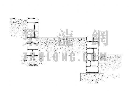 阶梯式挡土墙详图