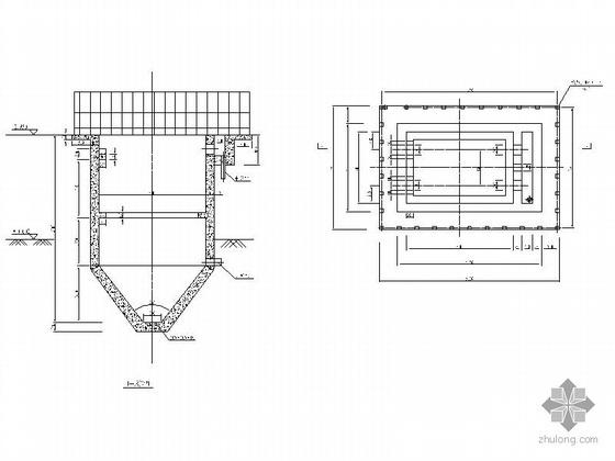 某沉淀池、氧化池、过滤池建筑施工图