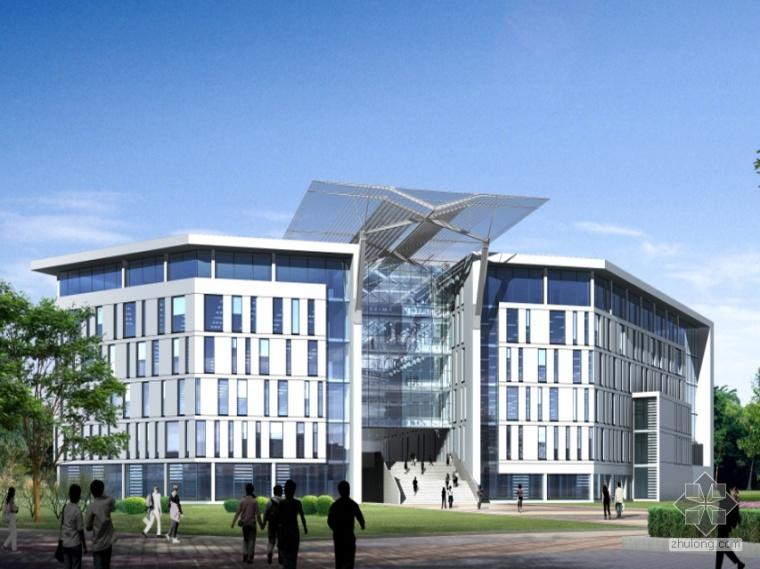 [西华]某大学图书馆方案设计(3个方案及效果图)