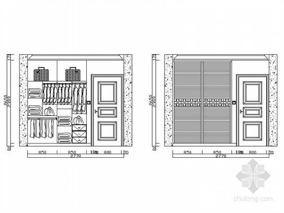 各式衣柜立面CAD图块下载