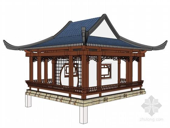 水榭SketchUp模型下载