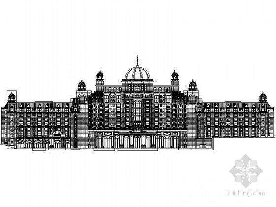 [安徽]欧式风格高层国际酒店设计施工图(含效果图)
