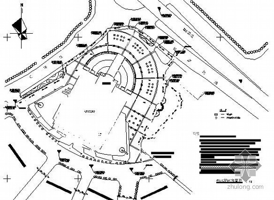 湖南汽车城环境景观施工图全套