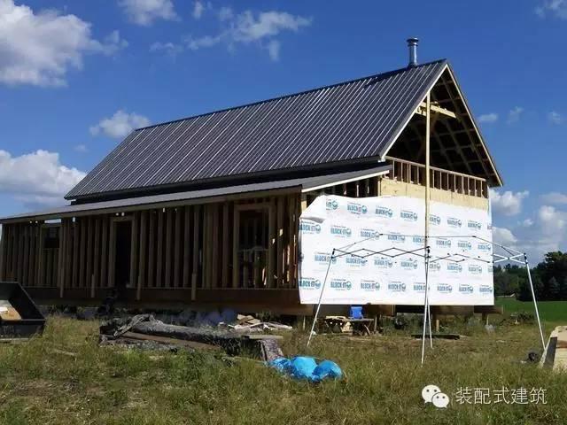 美国农村建房全程实拍——装配式木结构施工,速度快、性能好!_22