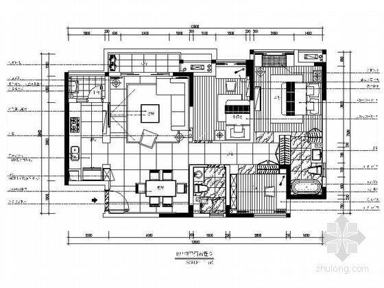 [重庆]国家园林城区现代三居室CAD装修图(含效果)