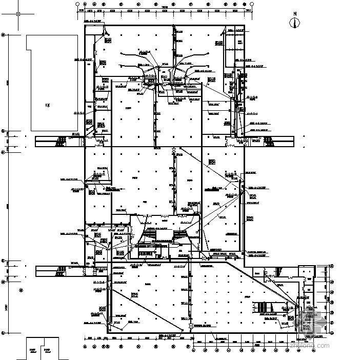某地下商场停车场电气设计图图片