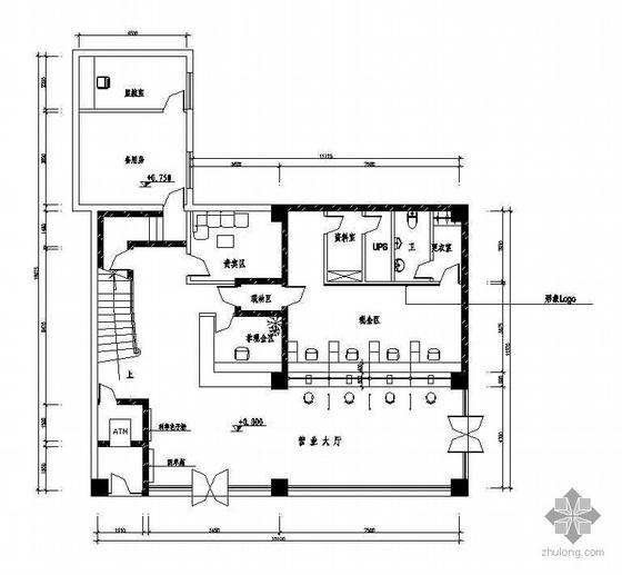 商业银行装修施工图