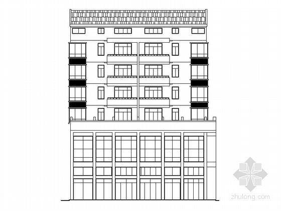 [孝感]某县七层沿街商住楼建筑扩初图