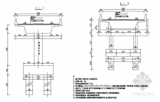 某预应力现浇连续箱梁高架桥设计图