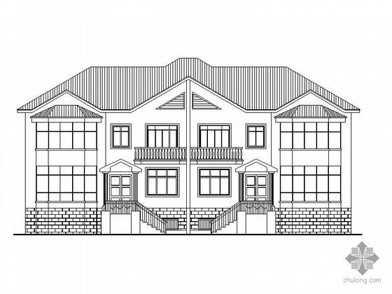 [常德]某二层别墅建筑施工图(含效果图)