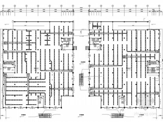 [四川]开阔型商场空调通风系统设计施工图(风冷模块机组)