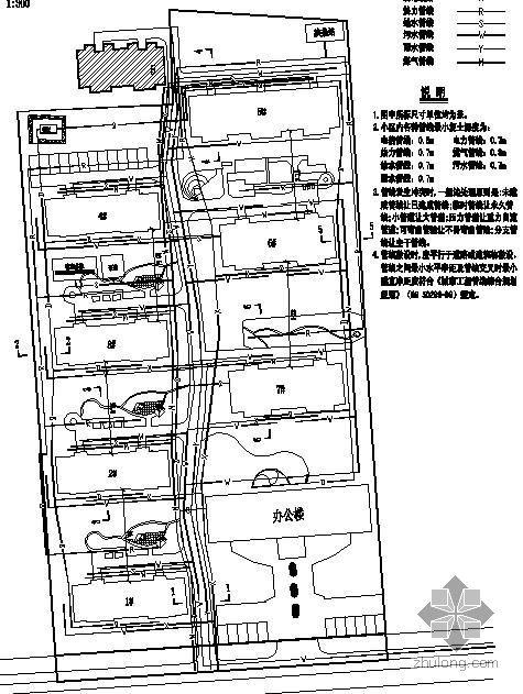 某住宅小区室外综合管线施工图