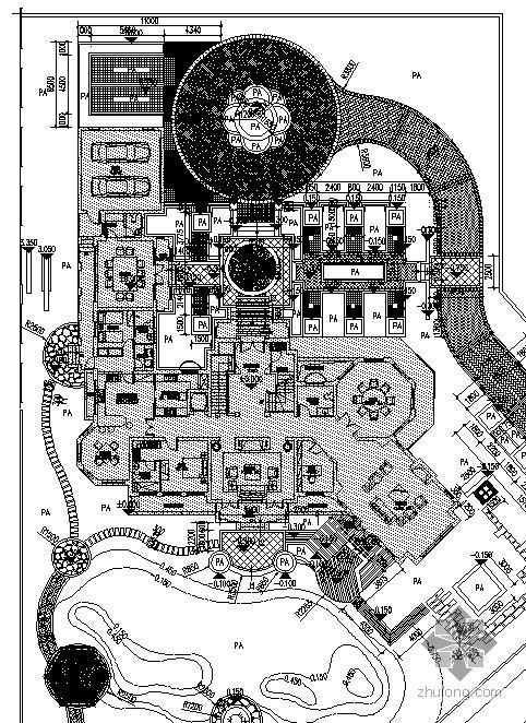 别墅环境设计总平面