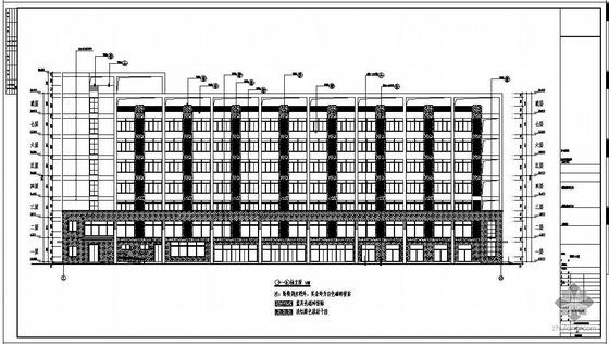 福建某职工公寓建筑结构设计图