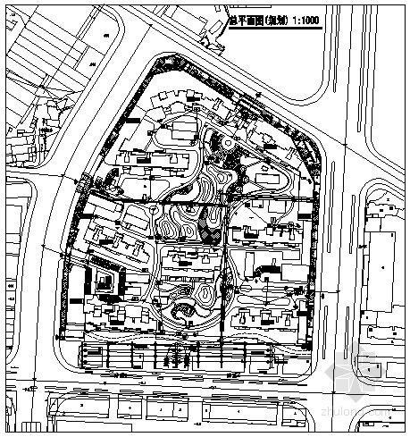 [江苏]小区弱电管线布置总规划图
