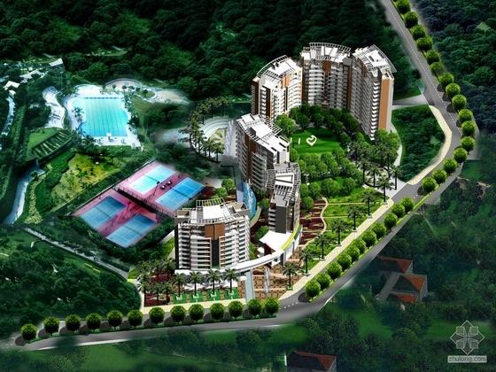 [长沙]华侨城某住宅小区规划CAD方案及设计文本