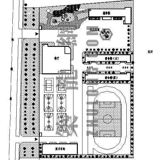 某技校校区规划平面方案