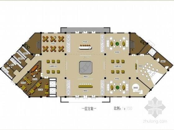 [上海]浦東新區典雅高檔風格售樓處室內設計方案
