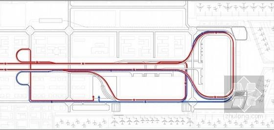[河南]单个一体化屋顶枢纽机场建筑设计方案文本-单个一体化屋顶枢纽机场建筑分析图