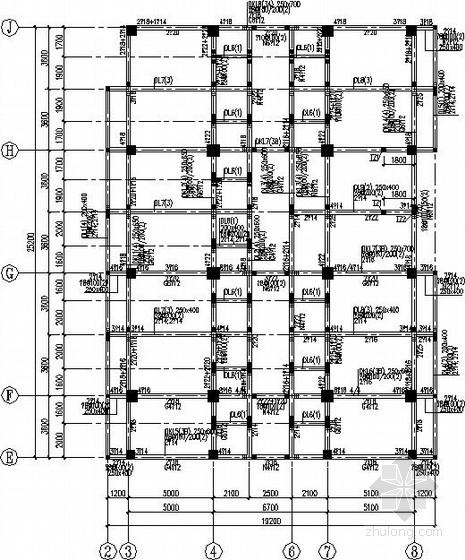 六层框架综合楼结构施工图(平法表示)