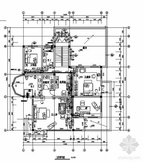 江苏某别墅数码涡旋中央空调设计图