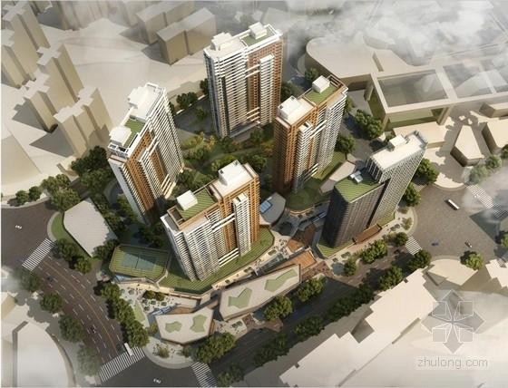 [上海]高层塔式玻璃幕墙住宅建筑设计方案文本
