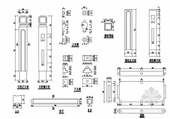 桥梁青石浮雕栏杆节点详图设计