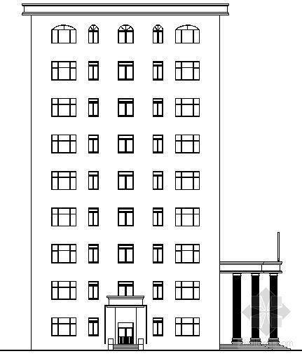 [河南理工大学土木工程学院毕业设计]某九层办公楼建筑结构扩初图