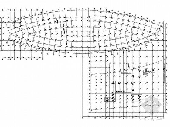 单层钢结构桁架地下室结构施工图