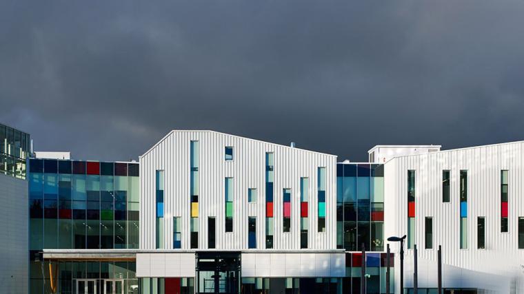 加拿大带有彩色元素的外立面艺术学院-4
