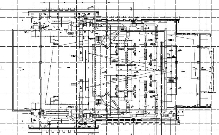 采暖管网施工图资料下载-治多县剧场剧院暖通施工图(含通风系统,采暖系统,防排烟系统)
