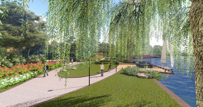[湖北]混合型现代湖滨生态奢华居住会所公园景观设计方案(2016最新)