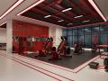 (原创)健身会所健身房设计案例效果图