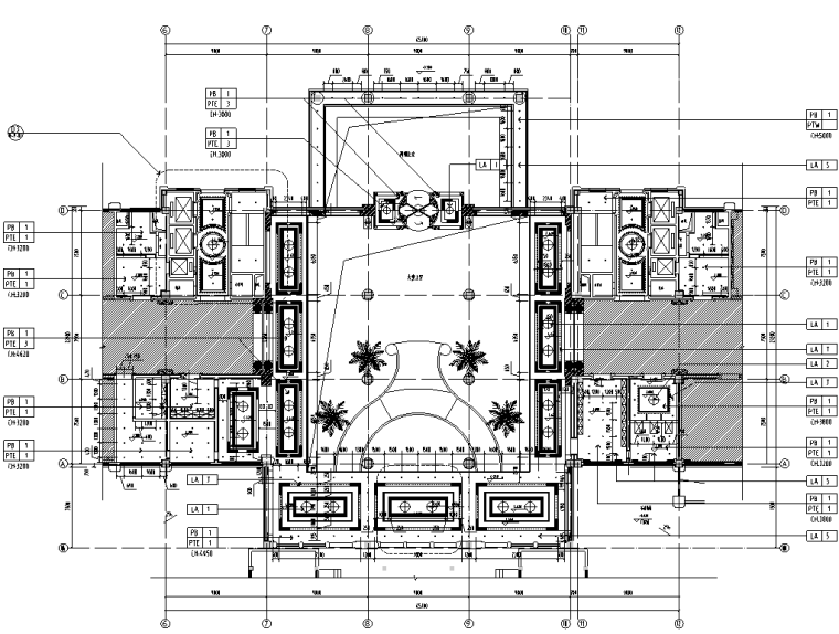 鄂尔多斯万佳大酒店施工图设计+效果图