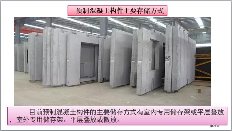 装配式建筑施工安全培训(图文并茂)-预制混凝土构件主要存储方式