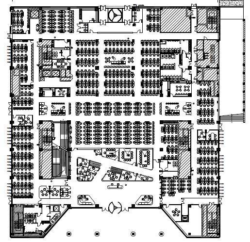 北京大型互联网公司总部装修机电施工图