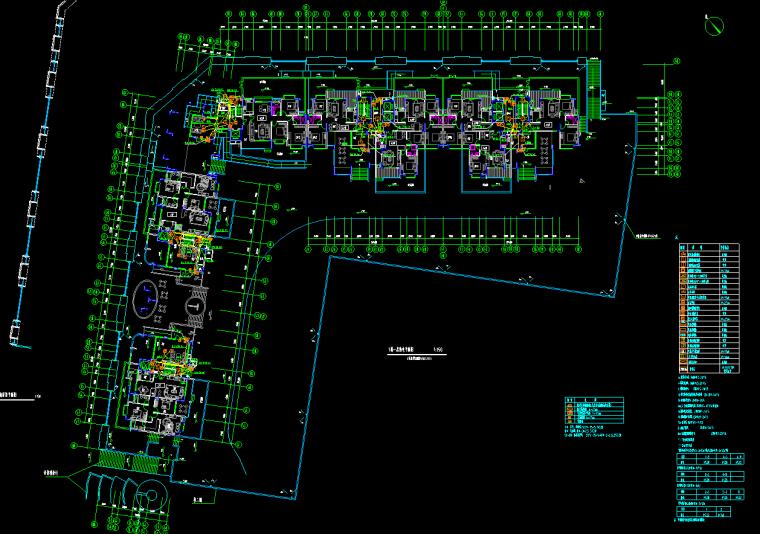 住宅楼弱电安装工程量清单计价实例---有图-一层弱电平面图