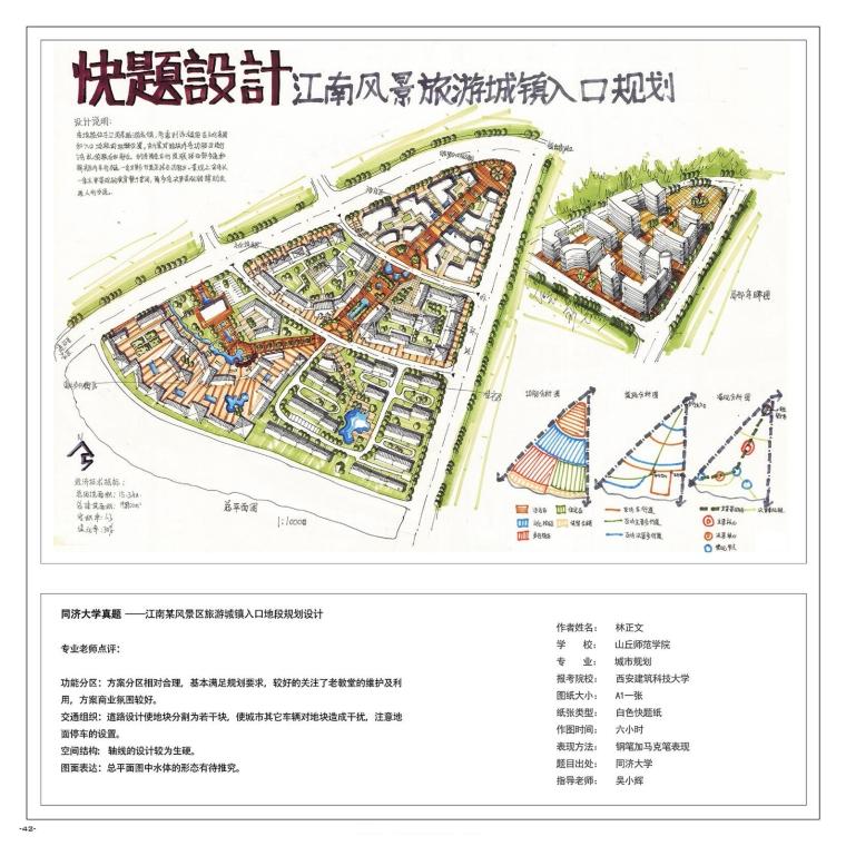 《城市规划快题100例》考研手绘资料-A (43)