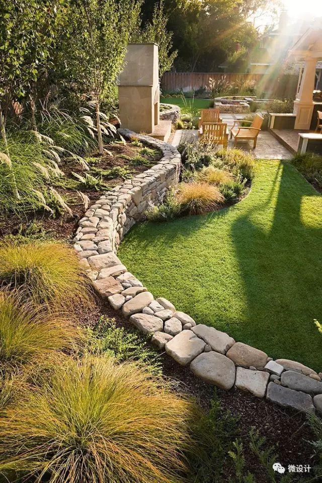 各式各样的庭院景观墙,美_3