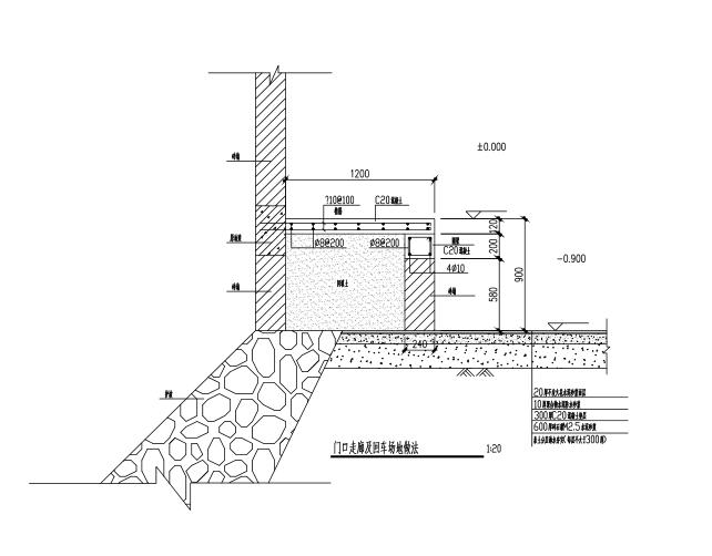 片石护坡设计施工图