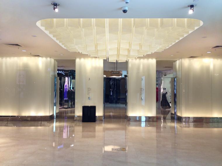 [北京]银泰中心商业公共区域设计施工图(附效果图+物料表+结构图纸+消防图纸)-3F电梯大厅