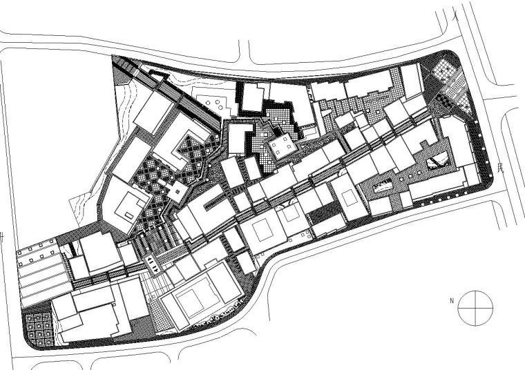 [浙江]台州北新椒居住商业街全套环境景观施工图
