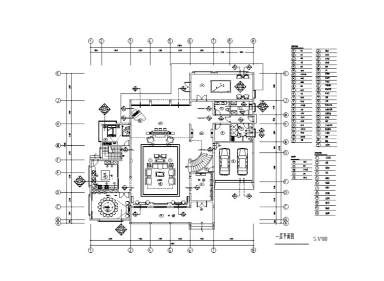 富春中式风格五层独立别墅室内施工图