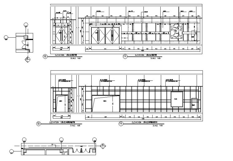 万达广场购物中心室内设计施工图(附效果图)-立面