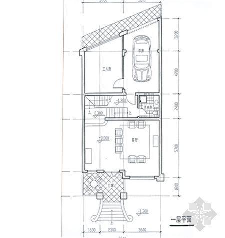 某别墅平面图及效果图8