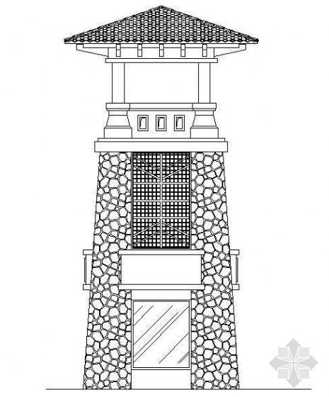 入口景观塔楼施工详图