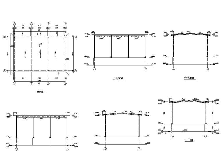 干煤棚、钢渣棚、铁精矿棚土建施工图