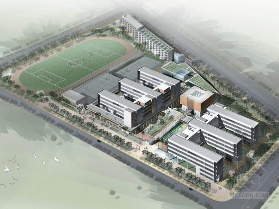 [深圳]E字布局型中学校园概念规划设计方案文本(含多媒体音频)